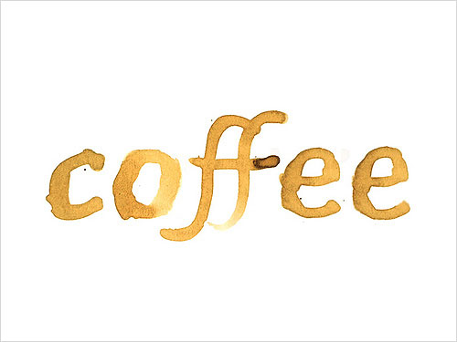 Coffe-stain-typography